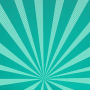 Colored Pop-Art Style blue background Stock Illustration