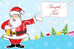Cheerful christmas card Stock Illustration