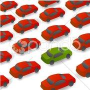 Cars on way Stock Illustration