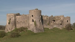 Carew Castle, Pembrokeshire Stock Footage