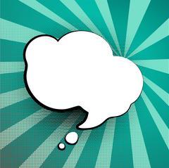 Speech colored bubble Pop-Art Stock Illustration