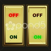 Electric switch Stock Illustration
