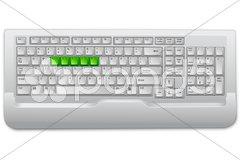 Computer key board Stock Illustration