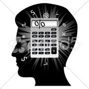creative man's mind - stock photo
