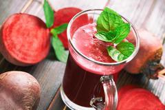 Freshly squeezed beetroot juice - stock photo