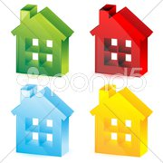 Colorful houses Stock Illustration