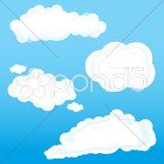 Clouds on sky Stock Illustration