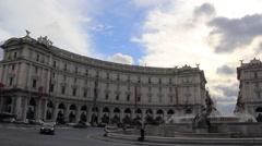 Rome, piazza della repubblica. Stock Footage