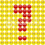 Smiley question mark Stock Illustration