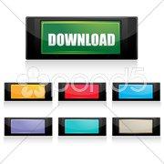 Downloading sign Stock Illustration