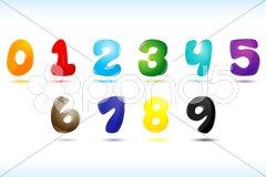 Numerical text Stock Illustration