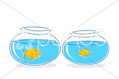 Fish in tank Stock Illustration