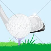 Golf ball with stick Piirros