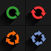 Color arrow loop, refresh, reload, rotation icon Stock Illustration