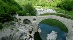 Aerial footage of Devil's Bridge in Bulgaria 3 Stock Footage