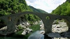 Aerial footage of Devil's Bridge in Bulgaria 4 Stock Footage