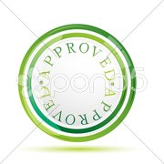 Approved sign Stock Illustration