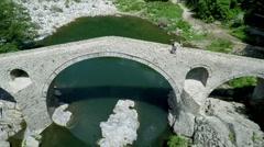 Aerial footage of Devil's Bridge in Bulgaria 2 Stock Footage