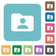 Flat folder owner icons Stock Illustration