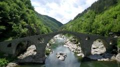 Aerial footage of Devil's Bridge in Bulgaria 1 Stock Footage
