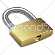 Lock pad Stock Illustration