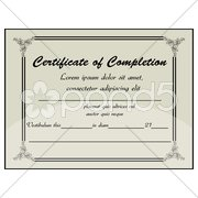 completion certificate - stock photo