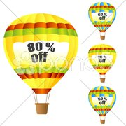Discount parachute Stock Illustration