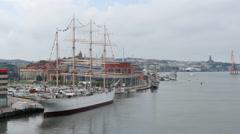 Gothenburg, Sweden. Seen from the Gotha River Bridge Stock Footage
