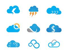 Cloud technology Logo Template Stock Illustration