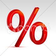 Percent sign Stock Illustration