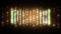 Wall of Lights Flicking and Blinking Spotlights Stock Footage