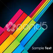 colorful lines on vector background - stock photo