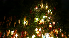 Colorful paper lantern in Yeepeng festival at night Stock Footage
