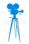 movie camera - stock photo