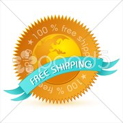 free shipping tag - stock photo
