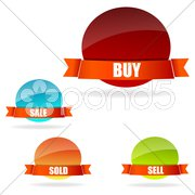 Buy and sell tags Stock Illustration
