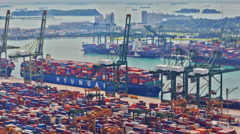 Timelapse of the port of Singapore, UHD 4K Stock Footage