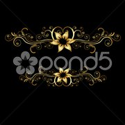abstract classical vector background - stock photo