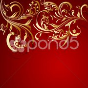 floral abstract vector background - stock photo