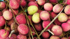 Pile of delicious tropical fruit, Lychee Stock Footage