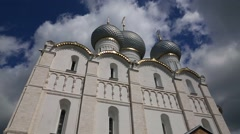 Cathedral of Assumption in Rostov in Russia Stock Footage