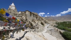 Shey Palace, Leh, Ladakh, Jammu and Kashmir, India Stock Footage