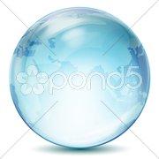 Transparent globe Stock Illustration