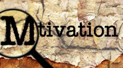 Magnifying glass on motivation text Stock Footage