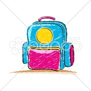 School bag Stock Illustration