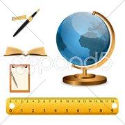 study icons - stock photo