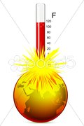 Temperature of earth Stock Illustration