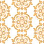Round Floral Ornament Stock Illustration