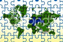 Global map Stock Illustration