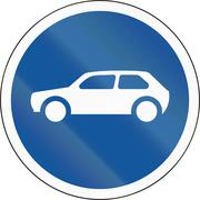 Road sign used in the African country of Botswana - Motorcars only Stock Illustration